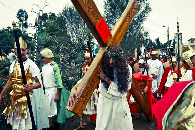 Crucifixión de Cristo, La Merced, Ecuador, 2009