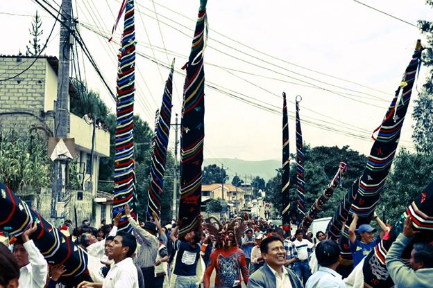 Procesión de las almas santas y los turbantes, La Merced, Ecuador, 2009