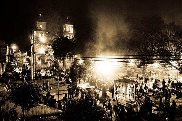 Procesión de Las andas, Puéllaro, Ecuador, 2009